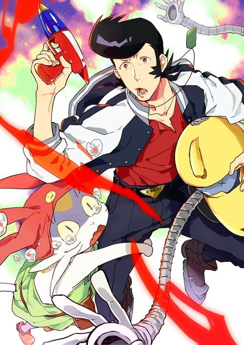 Dandy, Meow and QT from Space Dandy