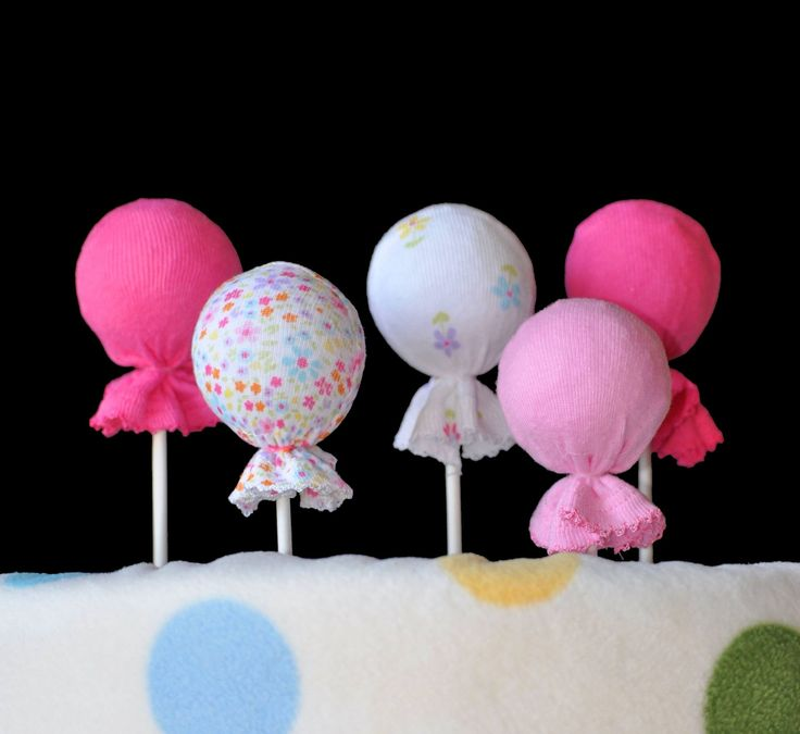 Washcloth Lollipops - great for a baby diaper cake - bjl