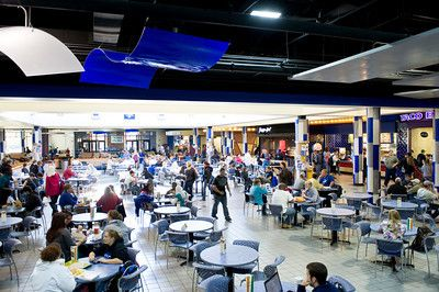 The Commons is always buzzing with students either working on homework or chatting at lunch/dinner.