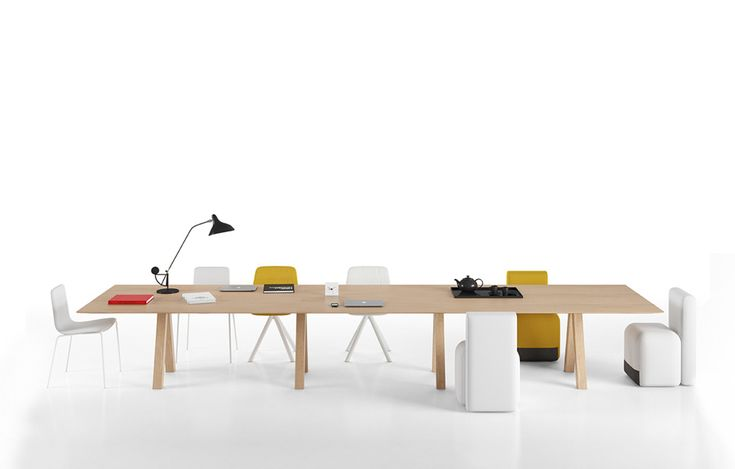 Trestle Table by John Pawson. The table top is available in different sizesm along with a new width of 120cm.