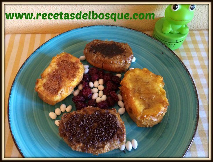 TORRIJAS Light al HORNO de Chocolate, de Miel, de Café, de Canela..www.recetasdelbosque.com
