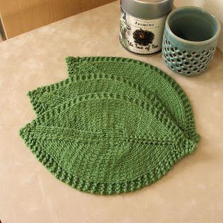 JeweledElegance: Green Tea Knitted Washcloths