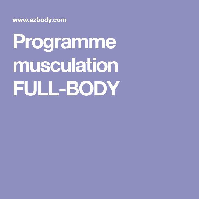 Programme musculation FULL-BODY