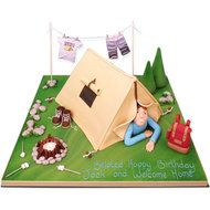 Pitch Your Tent Cake