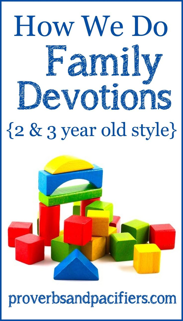 Proverbs and Pacifiers: How We Do Family Devotions {2 & 3-Year Old Style}