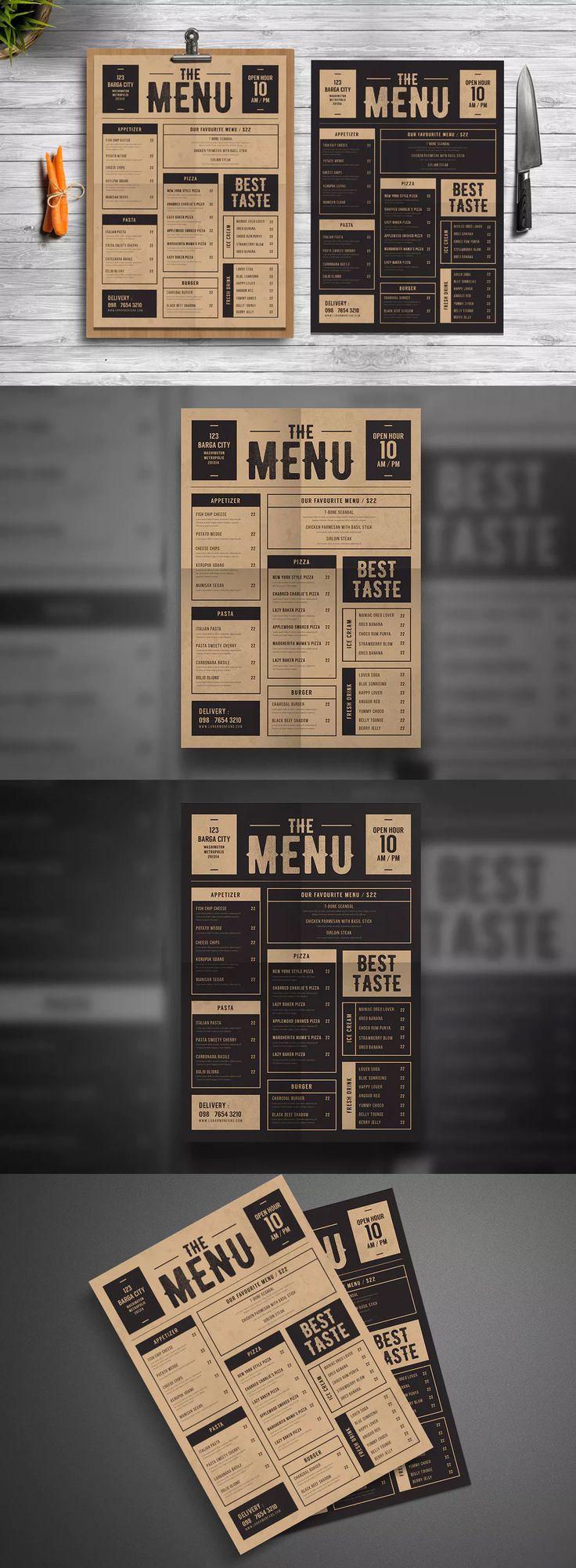 Classic Food Menu Template AI, PSD