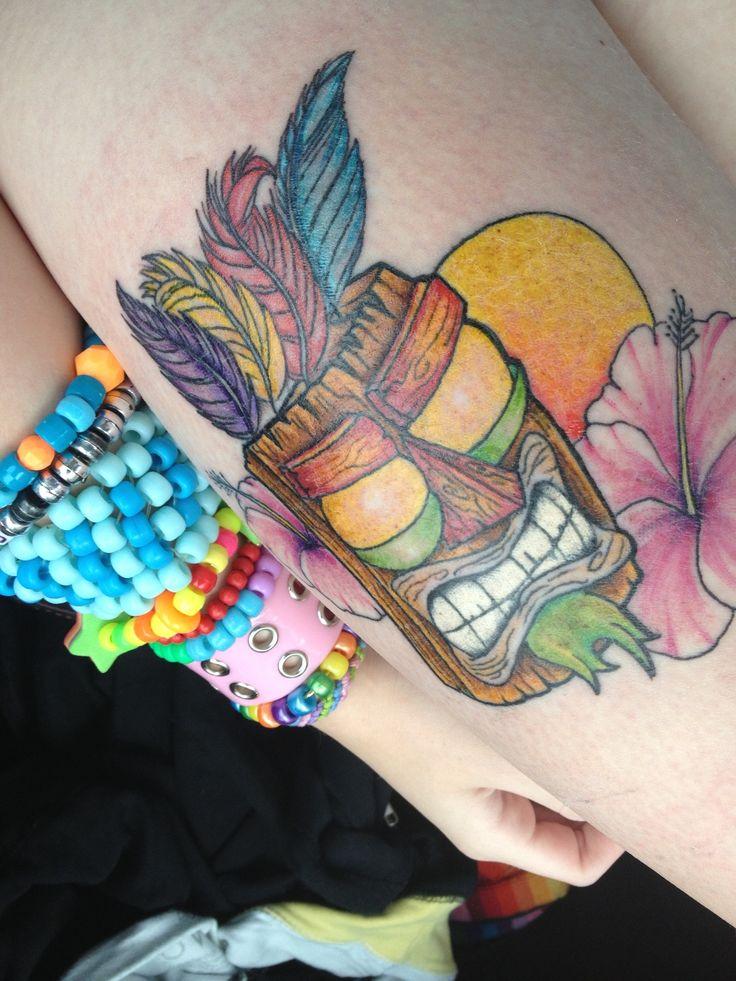 Laura 39 s lovely aku aku tattoo 3 crash bandicoot crash for Aku aku tattoo