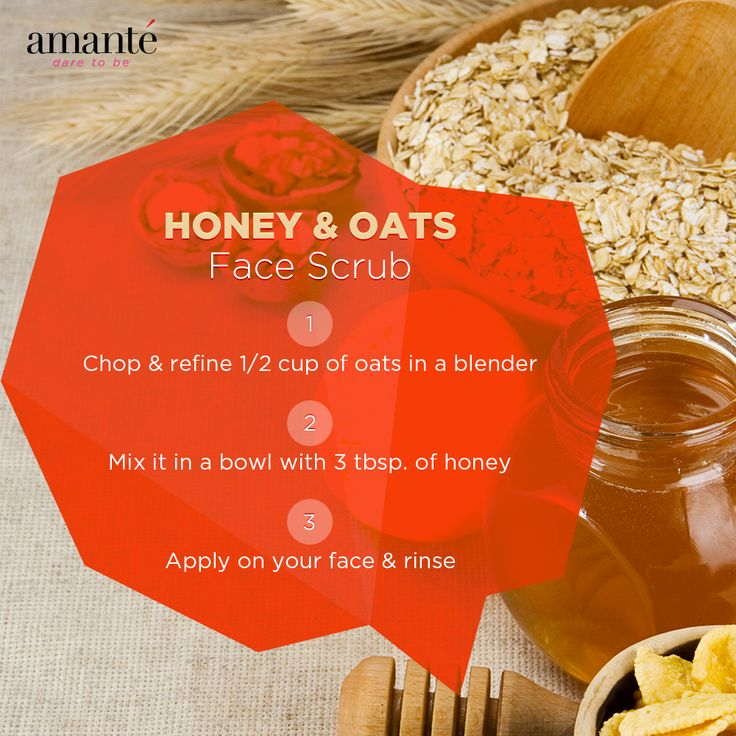 Get that beautiful soft skin with this simple Honey & Oats Face Scrub.