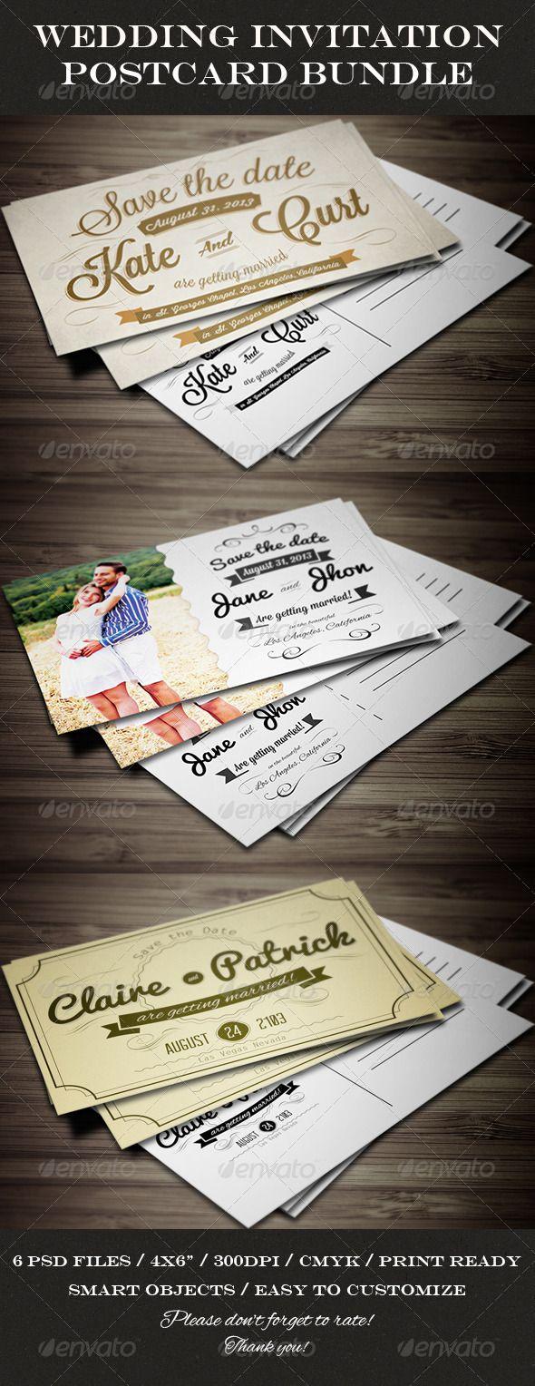 Wedding Invitation Cards Bundle 214 best Invites