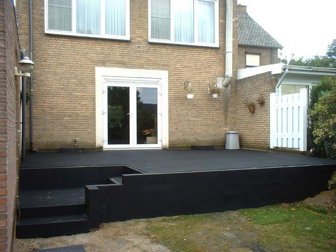 1000 images about new home outdoor op pinterest tuinen mid century modern en oppervlak ontwerp - Overdekt terras tegel ...