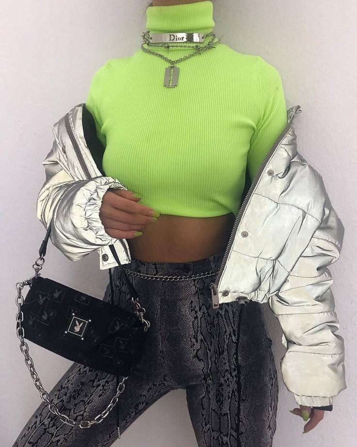 Lime Green Shirt Neon Outfits Fashion Neon Fashion
