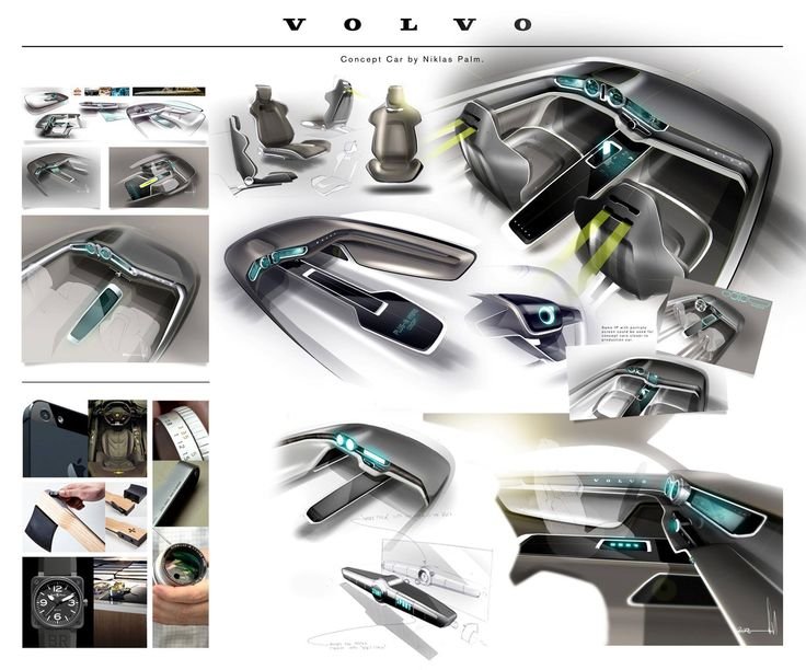 A Gallery Of Exterior And Interior Design Sketches The New Volvo Concept Coupe Study That Will Debut At 2013 Frankfurt Motor Show