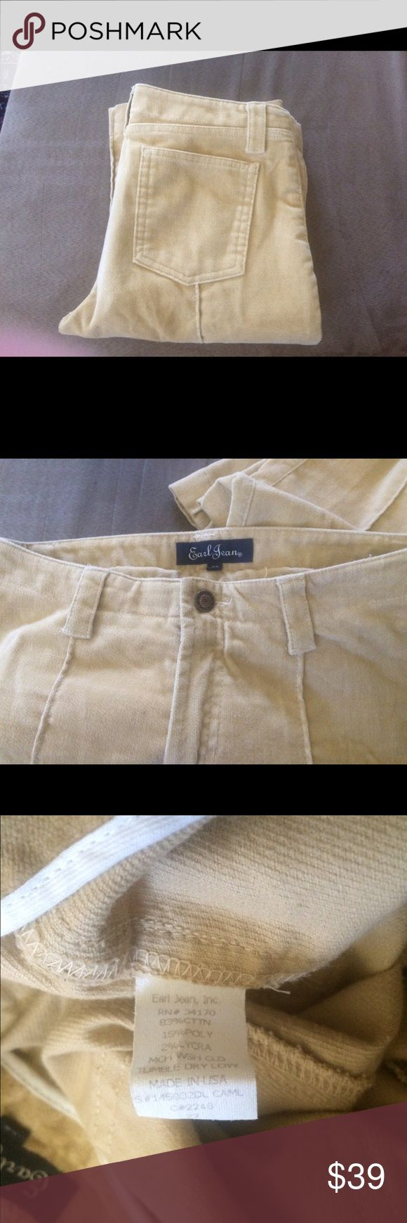 """Earl Jeans soft crushed cord pant size 27 Earl Jeans soft crush cord pant size 27 inseam 32"""" and rise 9"""" (dirt on hems) Earl Jeans Pants Boot Cut & Flare"""