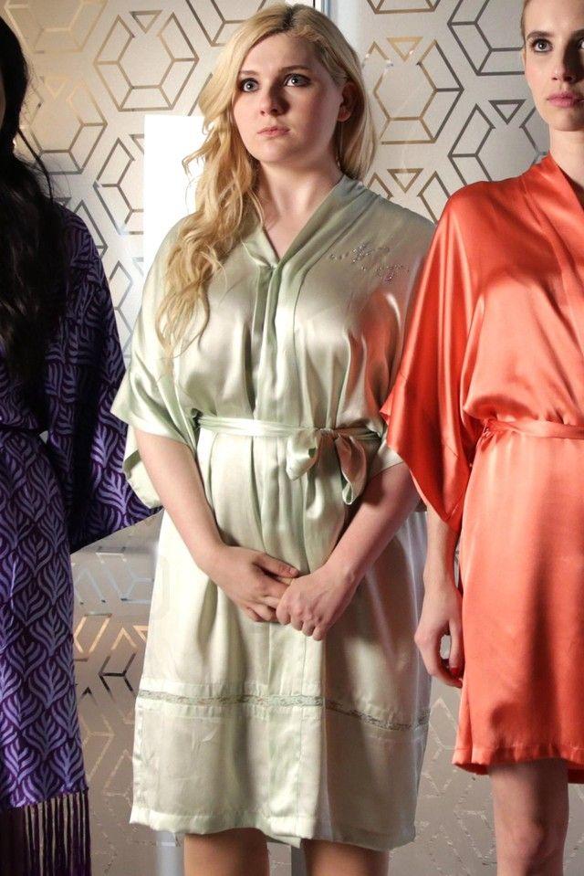 Samantha Bridal Silk Kimono Robe in Sage Green. Silk Kimono RobeScream  QueensKimonosChanel