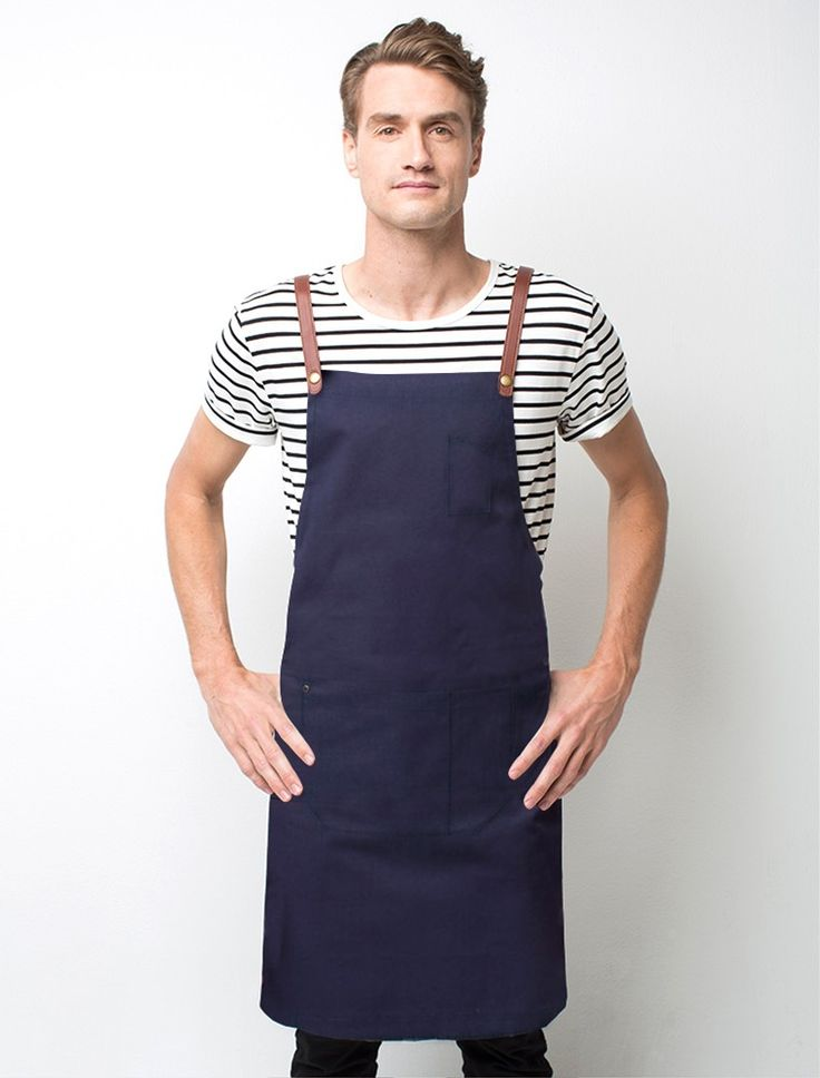 A fresh take on our range of Henry cross back aprons, our Henry Bib Apron in Marine is crafted from durable 100% cotton canvas. Create a smart-casual uniform look for your hospitality venue with one of our Riviera striped t-shirts  or team Henry with a Piper shirt for a more formal finish to your uniform. The tan PU leather look strap is a key feature of this apron, but you can choose a different colour from our 'Mix It Up' straps range to customise your apron to your business. Also…