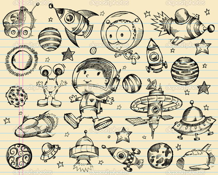depositphotos_12723881-Outer-Space-Doodle-Sketch-Vector-Illustration-Set.jpg (1024×825)