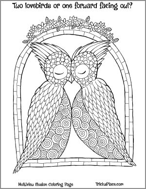 """Free """"Multiview Illusion"""" Coloring Page  #coloring #coloring #coloringbook #coloringbook #adultcoloring #adultcolouring #opticalillusions #coloringforadults"""