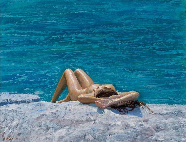Maria Filopoulou,Nude, 2009. Oil on canvas, 60 x 98cm.