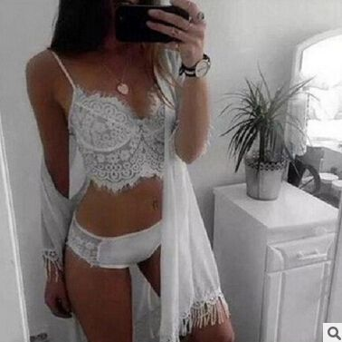 NEW 2016Women Clothes for Summer Shorts Sets V-Neck Sleepwear ladies white nightwear womenStrap Lace Sexy Pajama Set