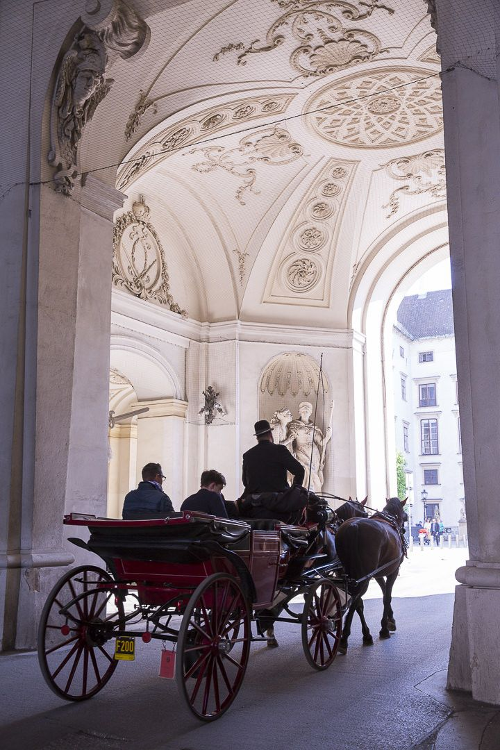 Les fameuses calèches de Vienne, Autriche