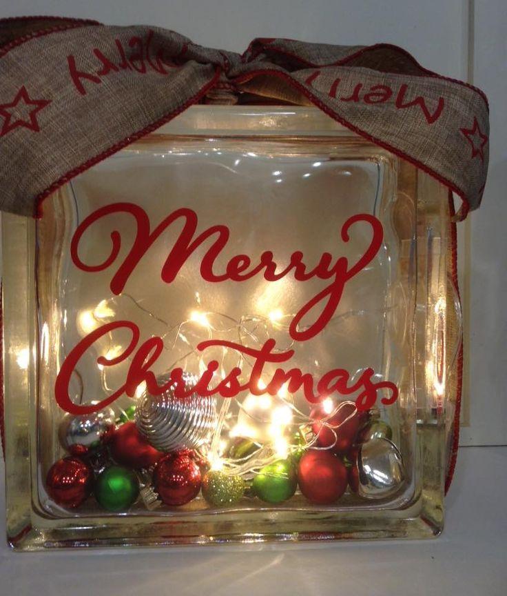 glass block christmas gifts - Christmas Glass Blocks