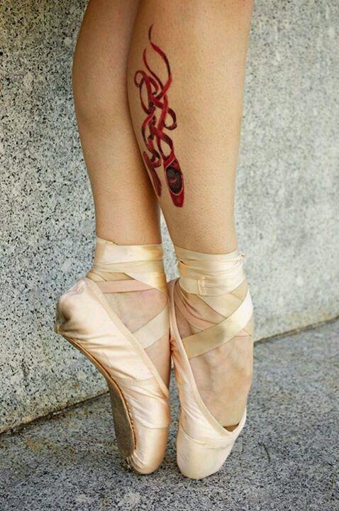Ballet pointe shoe tattoo <3