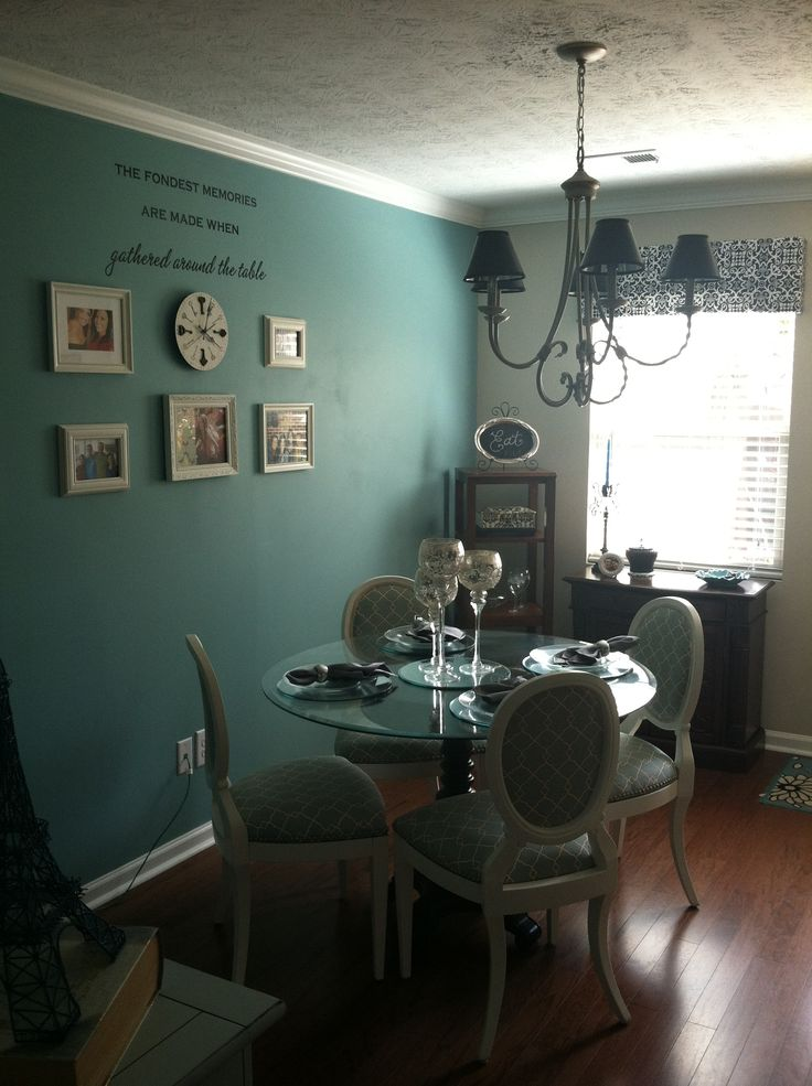 Dining Room Accent Wall Sparkle Turquoise