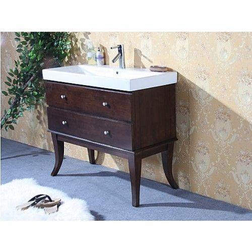 wlf seriesdark walnut single bathroom vanity w ceramic sink by legion furniture max furniture