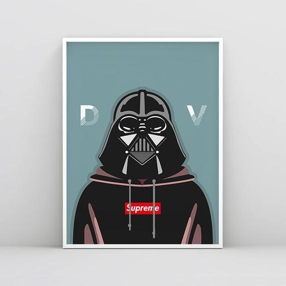 Darth Vader Poster Star Wars Decor Star Wars Wall Art Vader Art Print