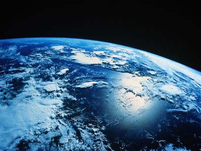 The Planet Earth   The planet is home to millions of species, including humans. Earth's biosphere has significantly altered the atmosphere and other abiotic conditions on the planet, enabling the proliferation of aerobic organisms as well as the formation of the ozone layer, which together with Earth's magnetic field blocks harmful solar radiation, thus permitting formerly ocean-confined life to move safely to land.