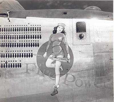 b-24 nose art Fire Power 380th BG