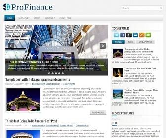 ProFinance Blogger Template