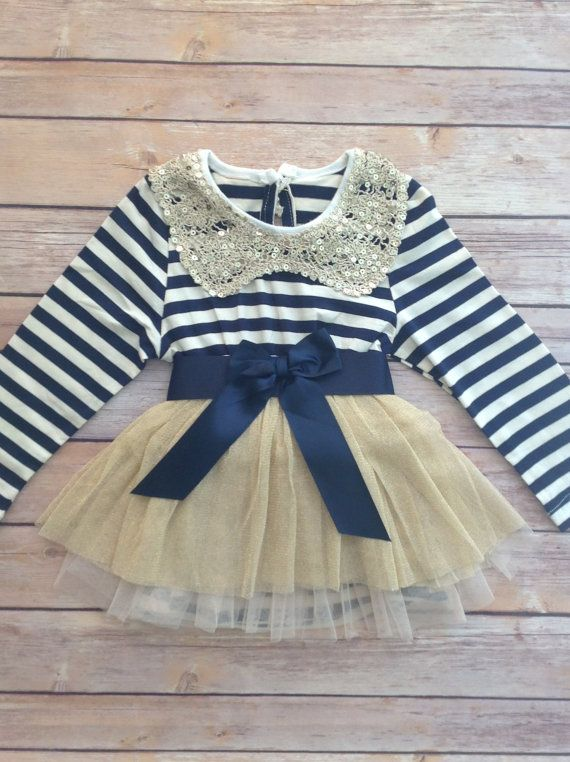 Navy Blue Gold Toddler Baby Girl Dress, Hanukkah Dress, Birthday Outfit Girl, Baby Girl Toddler Christmas Outfit Dress, Vintage Dress on Etsy, $39.95