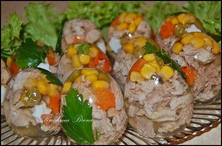 Jajka wielkanocne - galareta mięsna