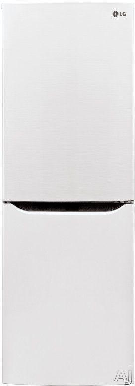 "LG LBN10551 10.1 cu. ft. Counter-Depth Bottom-Freezer Refrigerator with 2 Spillproof Glass Shelves, 1 Humidity Crisper, Multi Air Flow, SmartDiagnosis, Door Alarm and LoDecibel Quiet Operation - 24""wide"