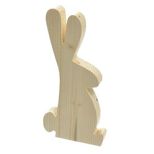 Ozdoby wielkanocne zajączek z drewna naturalne drewno