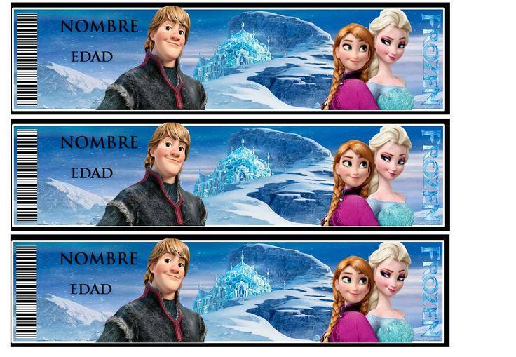 Etiqueta gaseosa Frozen