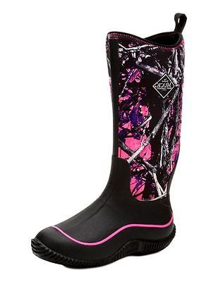 Muck Boots Womens Hale Camo Self-Cleaning Waterproof Black HAW-MSMG