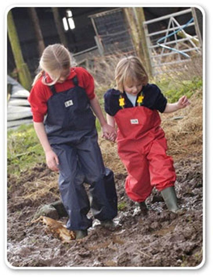 Children's Waterproof Dungarees -  Muddy Puddles Kids Dungarees (3-12 years)