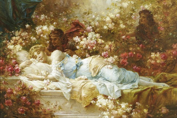 "HANS ZATZKA (1859-1945), ""Sleeping Beauty"" | Flickr - Photo Sharing!"