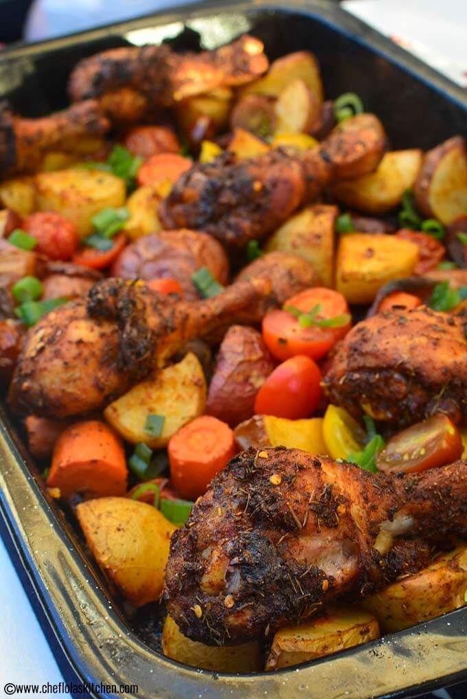 Chicken And Potato Bake Recipe Chicken Recipes Food Recipes