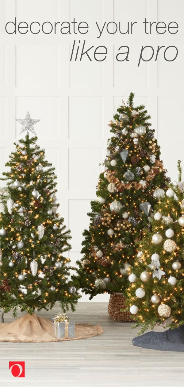 7 Pro Tips For Decorating Your Christmas Tree Overstock Com Modern Christmas Tree Decorate Christmas Tree Like A Pro Christmas Tree Decorations