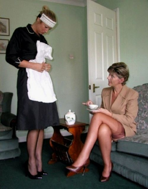 Apron domination dressing female maid sissy simply does