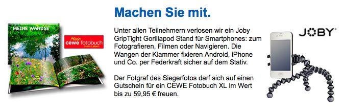 Machen Sie ihrem Smartphone Beine - Gewinnen Sie im Februar ein Gorillapod von Joby - http://www.nabu-fotoclub.de/gewinnspiel