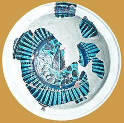 İznik Milet ware, dish, 15th century,red clay, İstanbul Archeology Museum  (Erdinç Bakla archive)