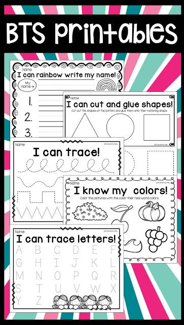 Simple printables for the first week of school!