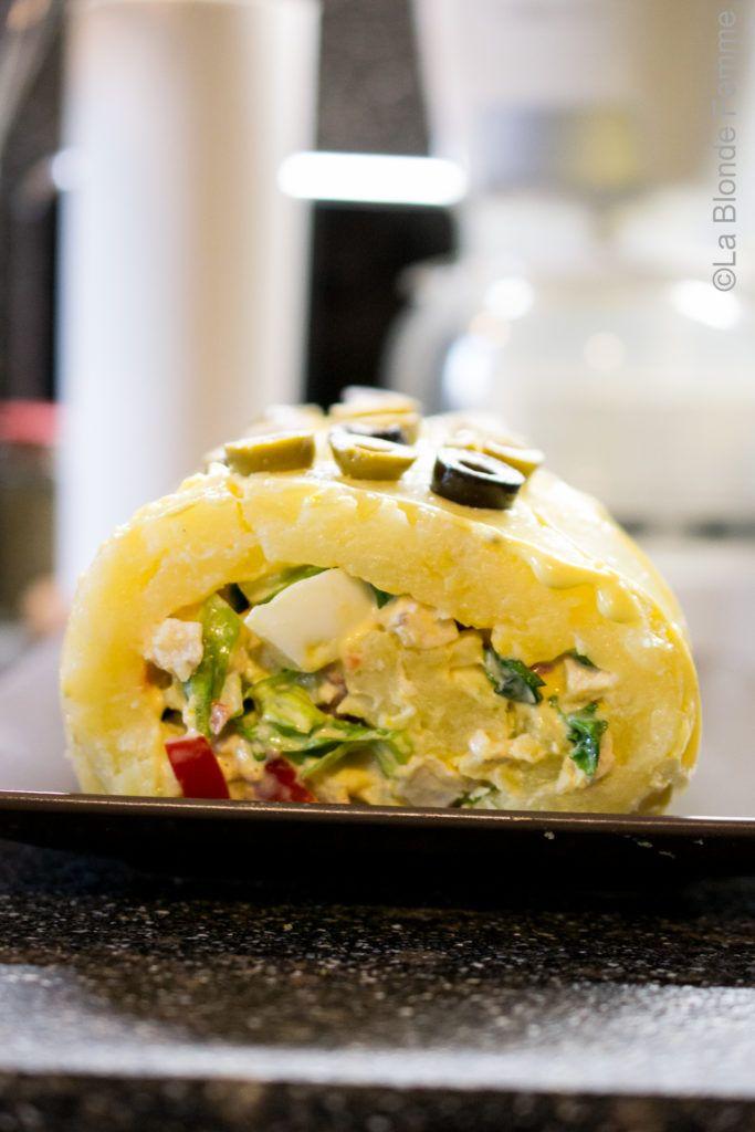 Insalata di pollo in un rotolo di patate per The Recipe-Tionist - La Blonde FemmeLa Blonde Femme
