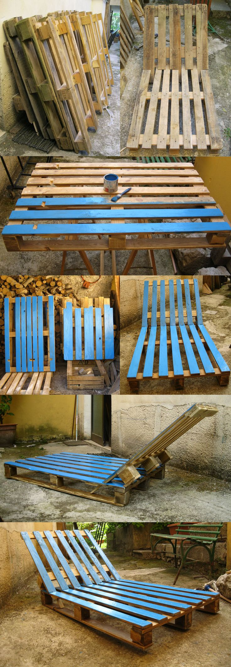 08_2015 Sdraio piscina - pallet deckchairs for garden and swimming pool