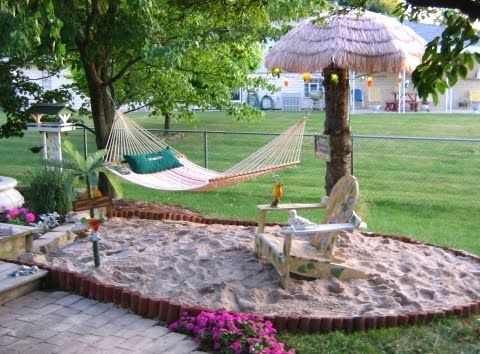 13 best Backyard beach images on Pinterest   Backyard fireplace ...