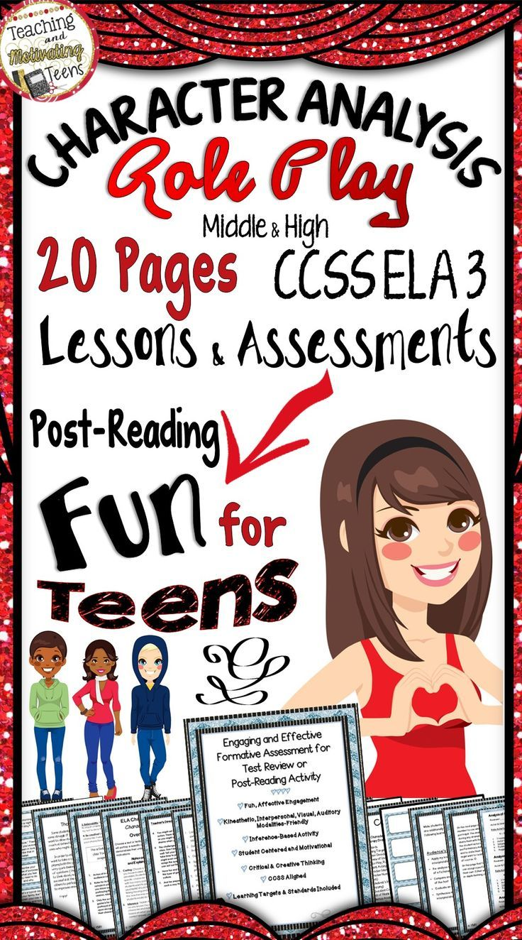Your middle school or high school students will love using their critical thinking skills and creativity in this fun dramatization of character and characterization interpretation. CCSS RL 3 + Speaking and Listening aligned with learning targets. Students portray characters to analyze and interpret the characters' traits and motivations. Contains detailed teacher instructions as well as student instructions, resources for the activity, and formative assessments. Highly motivational!